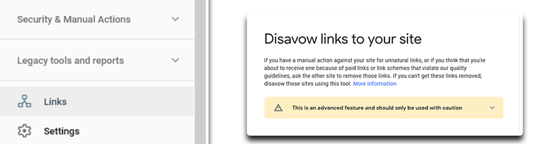 disavow the links to your website with option disavow in google search console